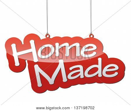 This is red vector background home made
