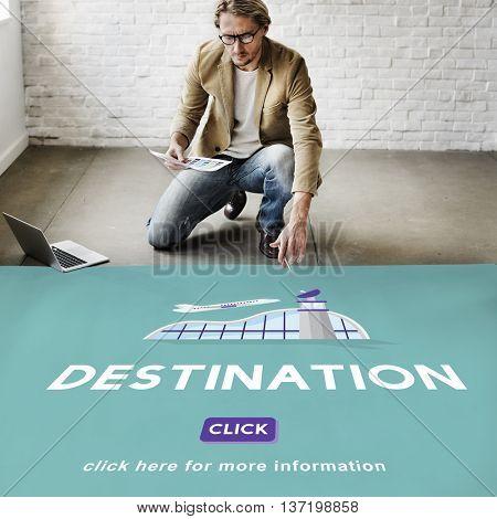 Destination Business Trip Flights Travel Concept