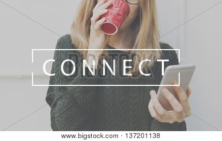 Connect Networking Links Access Interconnection Concept