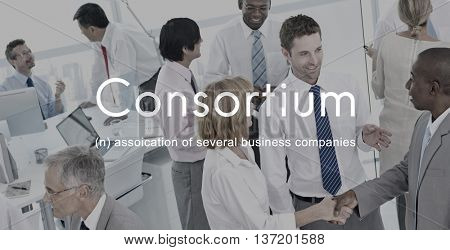 Consortium Alliance Combine Cooperative Group Concept