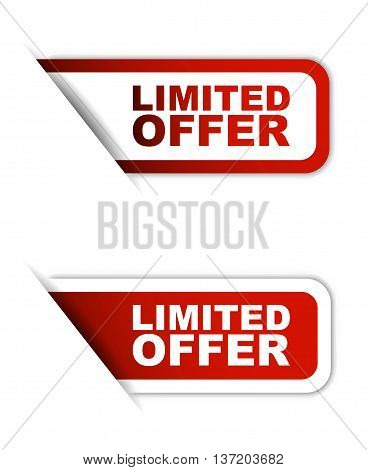 This is red vector element limited offer