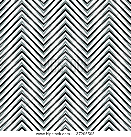 Zigzag, Corrugated, Serrated Lines. Dynamic, Irregular Stripes. Geometric Repeatable Abstract Monoch