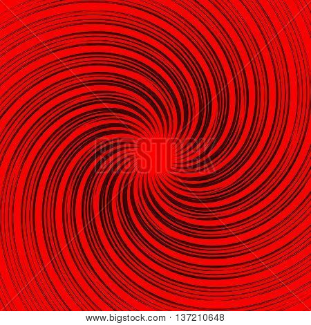 Colorful (monochrome) Abstract Spiral, Swirl Background. Distorted, Warped Rotating Radial Lines, Ro