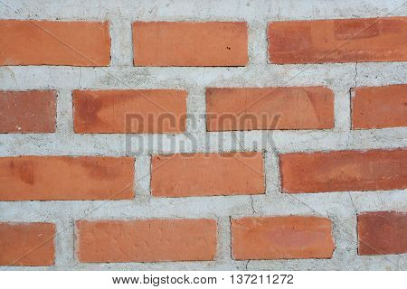 red brick wall surface, Weathered stained old brick wall background