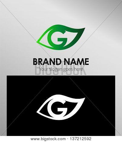 Leaf icon Logo Design Concepts. Letter G