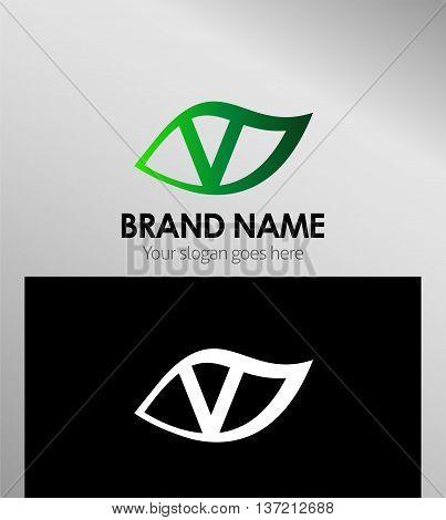 Letter v logo icon template design vector