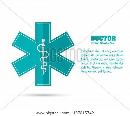 Medical and Health care concept represented by caduceus icon. Colorfull and flat illustration.
