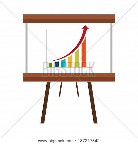 Business growth statistics, flat icon statistics vector illustration.