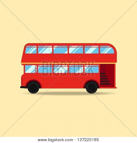 Double decker bus flat design vector illustration