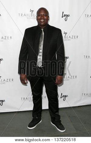 NEW YORK-JUN 25: Actor Tituss Burgess attends Logo TV's