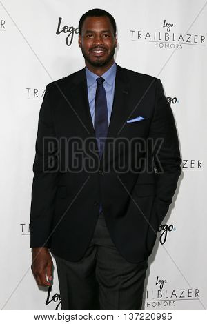 NEW YORK-JUN 25: Retired NBA player Jason Collins attends Logo TV's