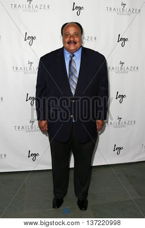 NEW YORK-JUN 25: Martin Luther King III attends Logo TV's