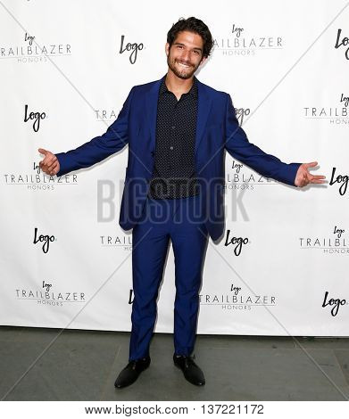 NEW YORK-JUN 25: Actor Tyler Posey attends Logo TV's
