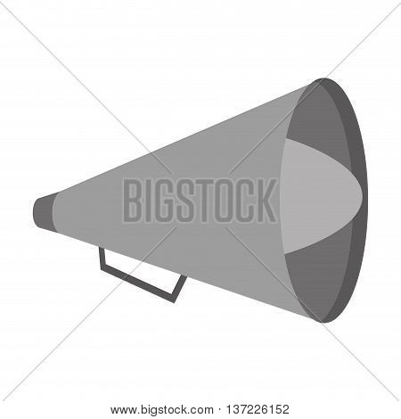 simple flat design single megaphone icon vector illustration