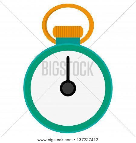 simple flat design analog chronometer icon vector illustration