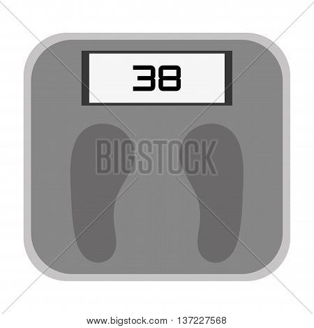 simple flat design digital weight scale icon vector illustration