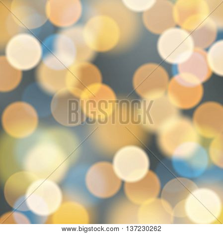 Night city blur illumination lights. Abstract glitter background.
