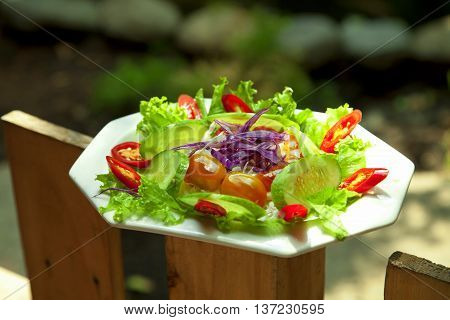Special salad  that serving in the restaurant