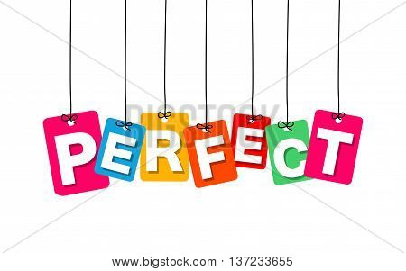Vector colorful hanging cardboard. Tags - perfect on white background
