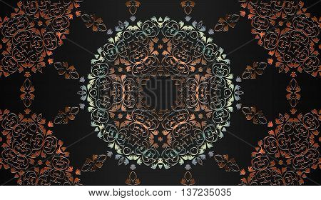 decorative tracery vintage seamless embossed pattern for design
