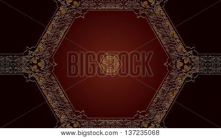 decorative tracery vintage seamless pattern embossed hexagonal shape for your design