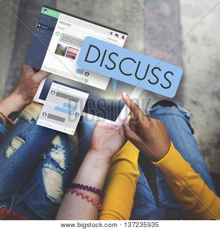 Discuss Discussion Argument Communication Concept