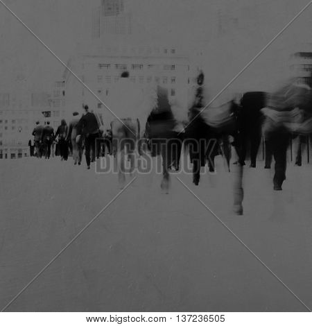 Business People Rushing  Motion Concept