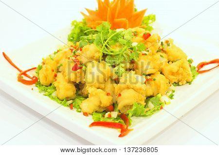 Fried breaded Shrimp that serving in the restaurant
