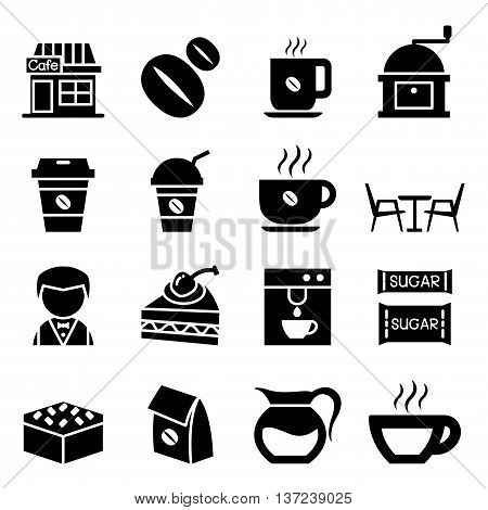 Coffee shop icon set Vector illustration Graphic design