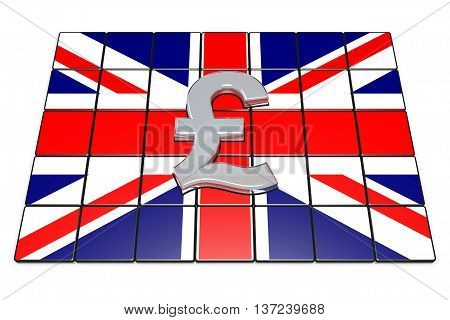 British Pound Sterling On Englands Flag