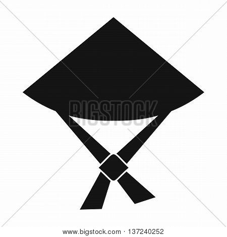 Vietnamese hat icon in simple style isolated vector illustration. Headdress symbol