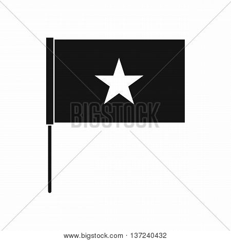Vietnam flag icon in simple style isolated vector illustration. State symbol