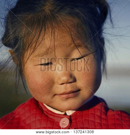 Cute Asian Girl in the Early Morning Concept
