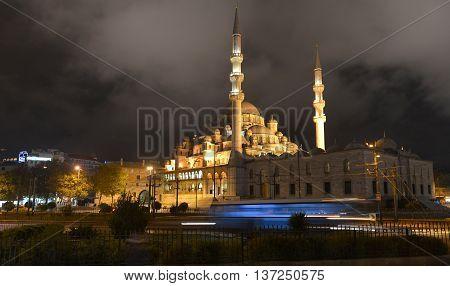 Ancient Mosque Eminonu. / 27.10.2014 / Istanbul, Turkey.