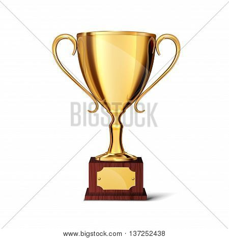 Soccer cup, isolated on a white background , vector illustration.