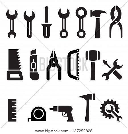 Tools icon set vector illustration graphic design