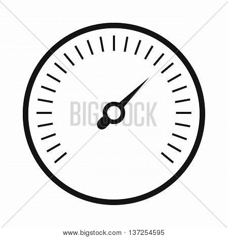 Speedometer icon in simple style isolated vector illustration. Auto spare parts symbol