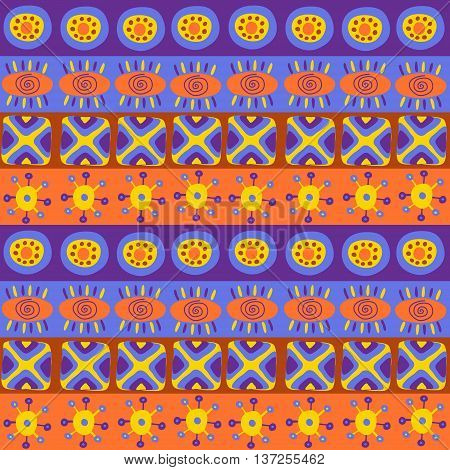 Seamless Texture With Bright Ethnic Patterns