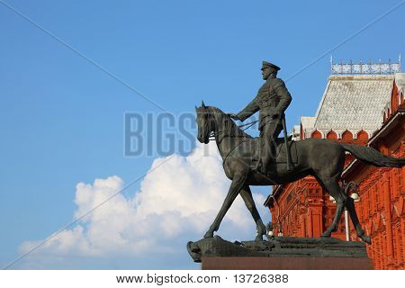 Monument to Marshal of  Soviet Union Georgy Konstantinovich Zhukov (Manege Square, Moscow, Russia )