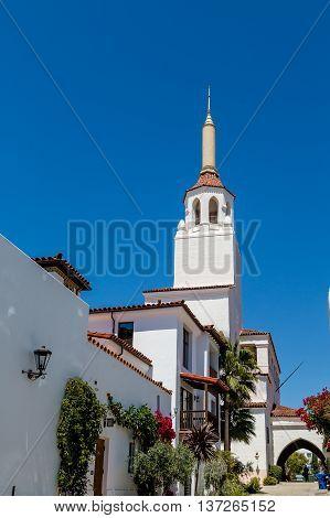 Church Steeple on Old Mission Church in Santa Barbara