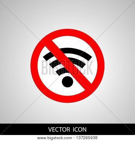 No signal sign ,no signal area.  Vector illustration.