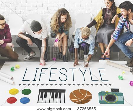 Lifestyle Culture Habits Hobbies Interests Life Concept