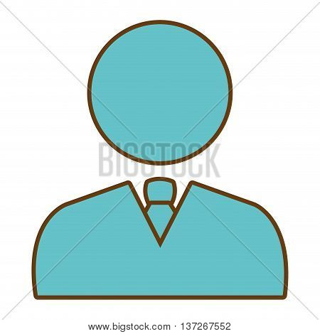 Businessman executive blue pictogram design, vector illustration graphic.