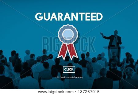 Guarantee Assurance Benefits Commerce Service Concept