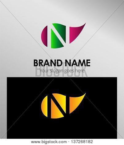 N letter Eco logo N letter Eco logo