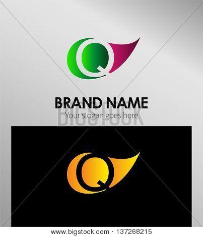 Q letter Eco logo Q letter Eco logo