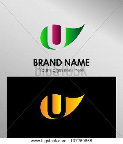 U letter Eco logo U letter Eco logo