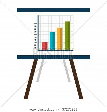 Business document with statistics icon, vector illustration graphic.