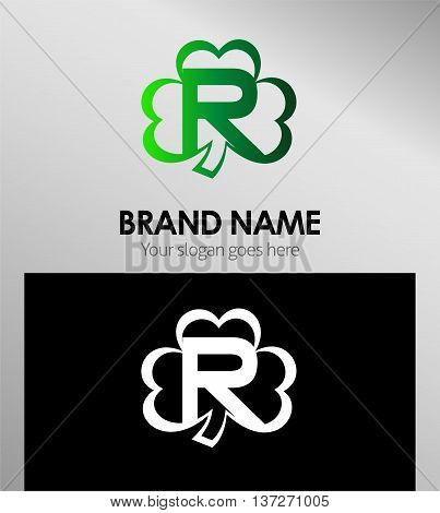 Alphabetical Clover Logo Design Concepts. Letter R