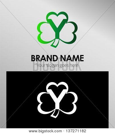 Alphabetical Clover Logo Design Concepts. Letter y